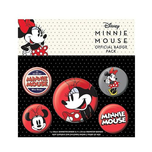 Disney Minnie Mouse Classic Button Badge Pack